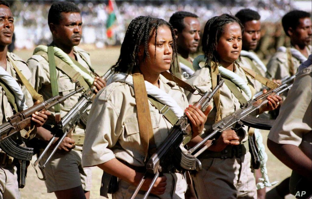 Conscripted as High Schoolers, Young Soldiers Parade in Asmara - Photo Sami Sallinen, AP
