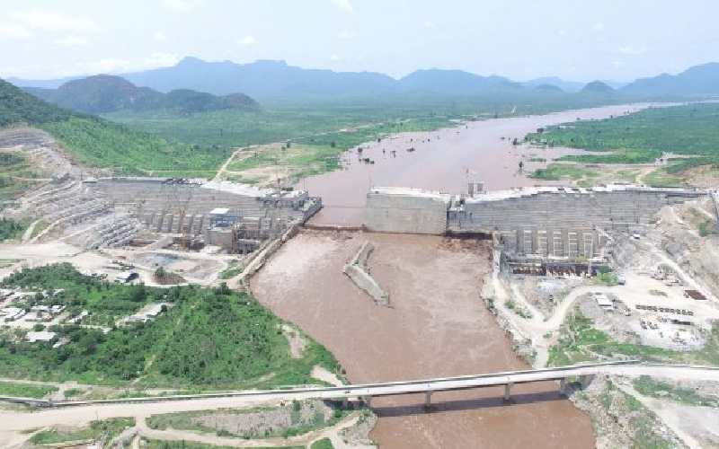 Ethiopia's Mega Dam on the Nile River - Photo The Standard