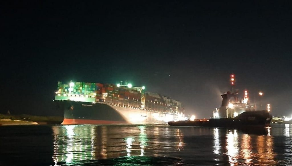 Ever Given Reflated as Suez Canal Reopens - Photo gCaptain