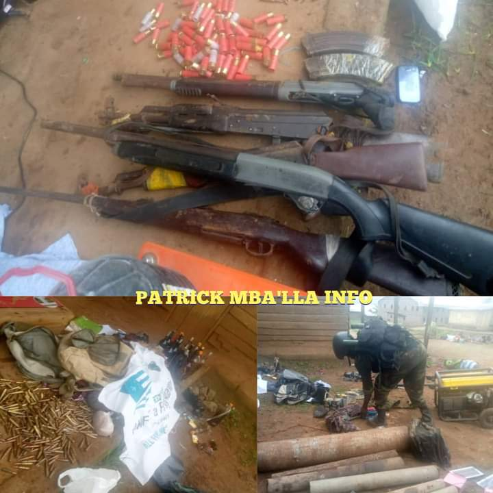 Few Artisanal Rifles, Pump Rifles and Hunting Guns Reportedly Seized from Amba Boys