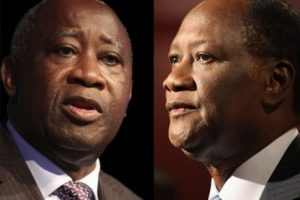 Gbagbo (L) and Ouattara - Photo AfricanQuarters