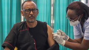 Kagame Gets the Jab - Photo Africa News