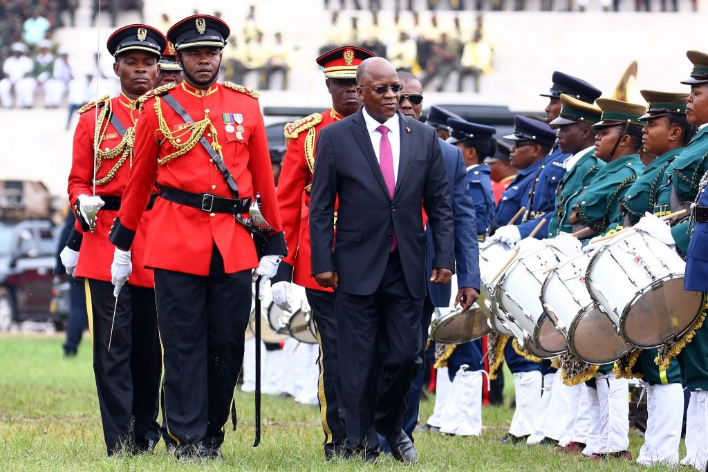 Magufuli Reviews Guard of Honor - Photo The New York Times