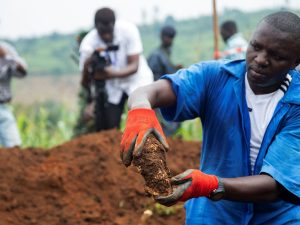 Mass Graves Found - Photo The Guardian