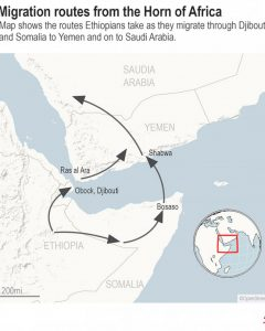Migration Routes from the Horn to Yemen
