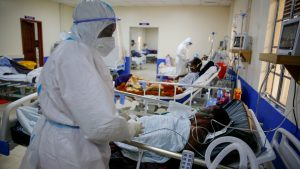 Medical workers attend to coronavirus patients in the intensive care unit in Kenya - Photo Brian Inganga, AP