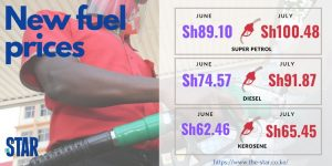 New and Higher Fuel Prices in Kenya - Photo The Star