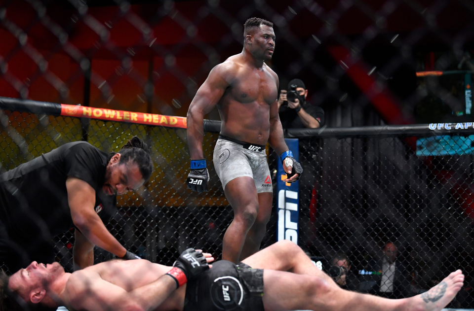 Ngannou Dominates, Overwhelms, Knocksout and Flattens Stipe Miocic on Way to Title - Photo TalkSPORT