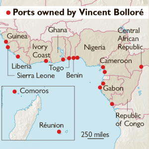 African Ports Managed by Bollore - Source The Times