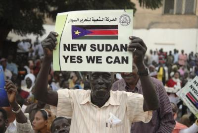 Pro-Independence Campaigner in South Sudan - Photo The Writers Project