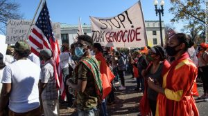 Protests by Ethiopians in Washington - Photo CNN