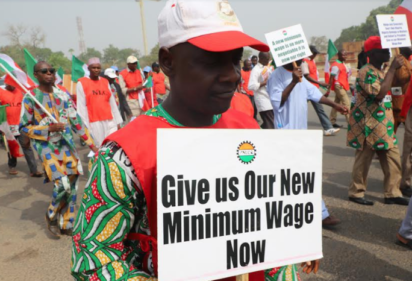 Protests for a Higher Minimum Wages - Photo Vanguard News