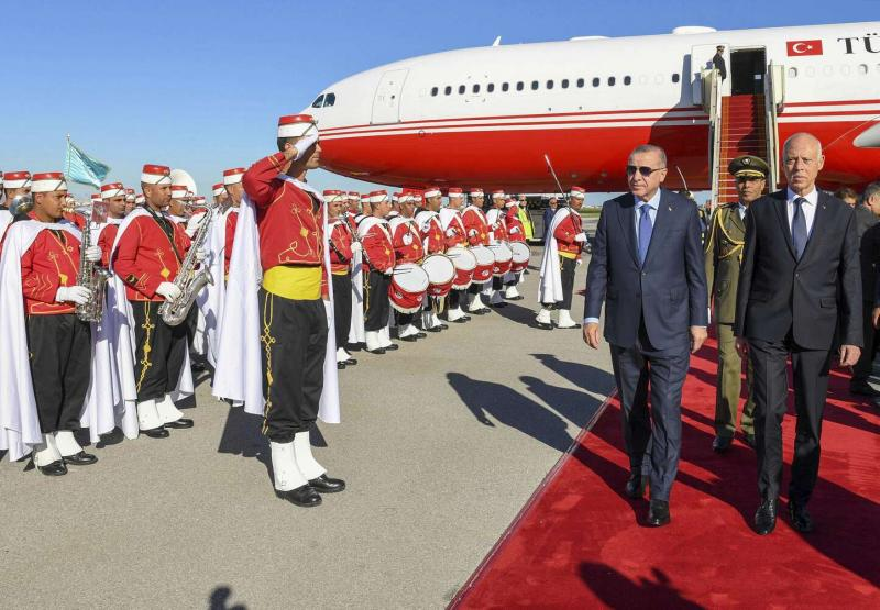 Red Carpet Reception in Tripoli for Tunisian Presient - Photo The Arab Weekly