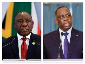 South African President Cyril Ramaphosa (L) and Senegalese President Macky Sall - Photo PM News