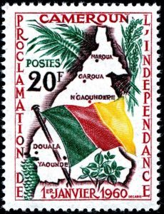 Stamp of French-speaking Cameroon Independent within Boundaries without Southern Cameroons - Photo Medium