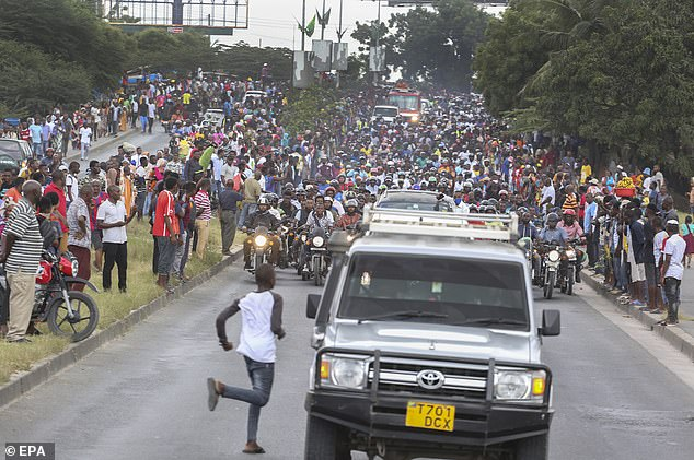 Stampede at the Fineral of Magufuli - Photo BroRead.com