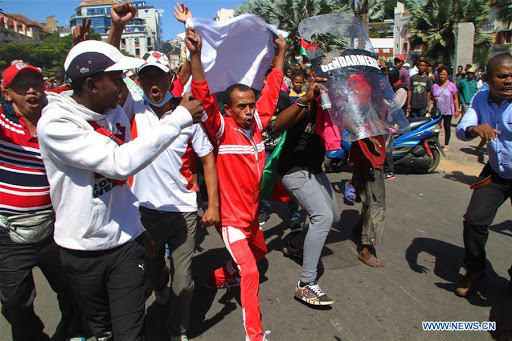 Student Protests Continue in Madagascar - Photo Xinhua