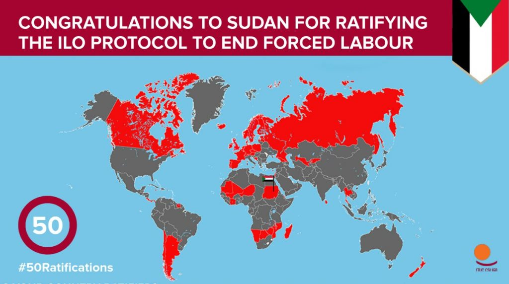 Sudan Congratulated for Ratifying Protocal - ILO on Twitter