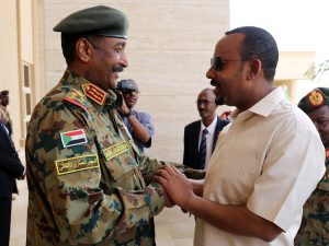 Sudanese Prime Minister (L) and his Ethiopian Counterpart - Photo Arise News