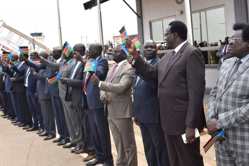 Swearing in Ceremony for Governors in South Sudan - Photo Eye Radio