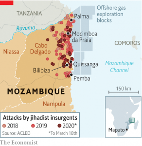 The Deadly Footprint of Islamist Militants - Source The Economist
