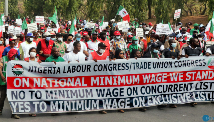 Union Leaders March on Parliament in Abuja - Photo Photo BJO/NAN in Inside Business