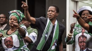 Zambian President Campaigns during the 2016 General Elections - Photo BBC