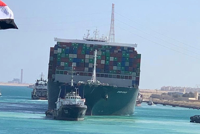 Ship Ever Given, one of the world's largest container ships - Photo Suez Canal Authority/Handout via Reuters