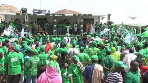 A Crowd of Guelleh Supporters at one of his Rallies - Photo Hiiraan Online