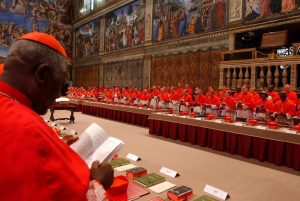Cardinal Tumi at the Conclave of Cardinals to Elect a New Pope - Photo WBUR