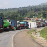 Cargo Trucks Stranded Close to Border with South Sudan - Photo The Independent Uganda