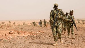 Chadian Soldiers During a Training Session with US Special Operations Forces - U.S. Army photo by Sgt. Steven Lewis