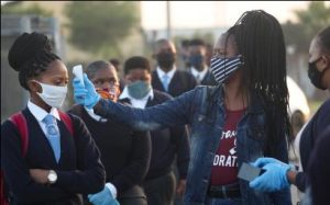 Checking Students for Temperature in South Africa - Photo Quartz