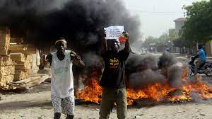 Demonstrators in Chad Reject Military Rule - Photo Yahoo News