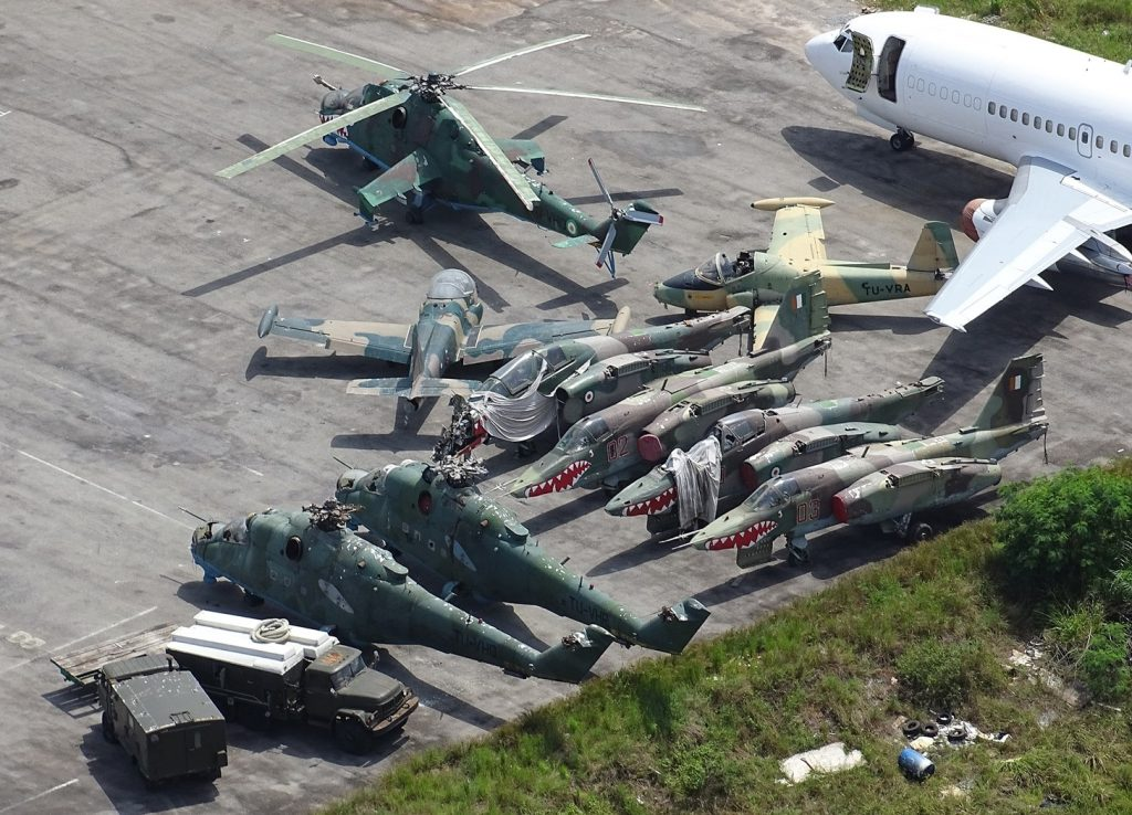 Ivoirian Air Force Planes and Choppers Destroyed - Photo Oryx Blog