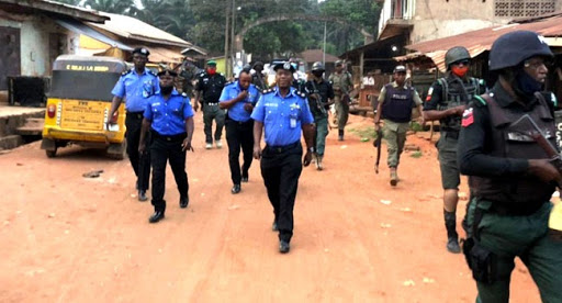 Nigerian Police Comb the Scene of the Foiled Assassination Attempt - Photo HumAngle