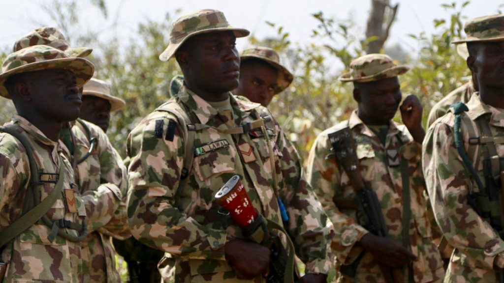 Nigerian Troops During a Counter-Terrorism Training Session