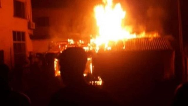 Police Headquarters Torched - Photo Enough 14