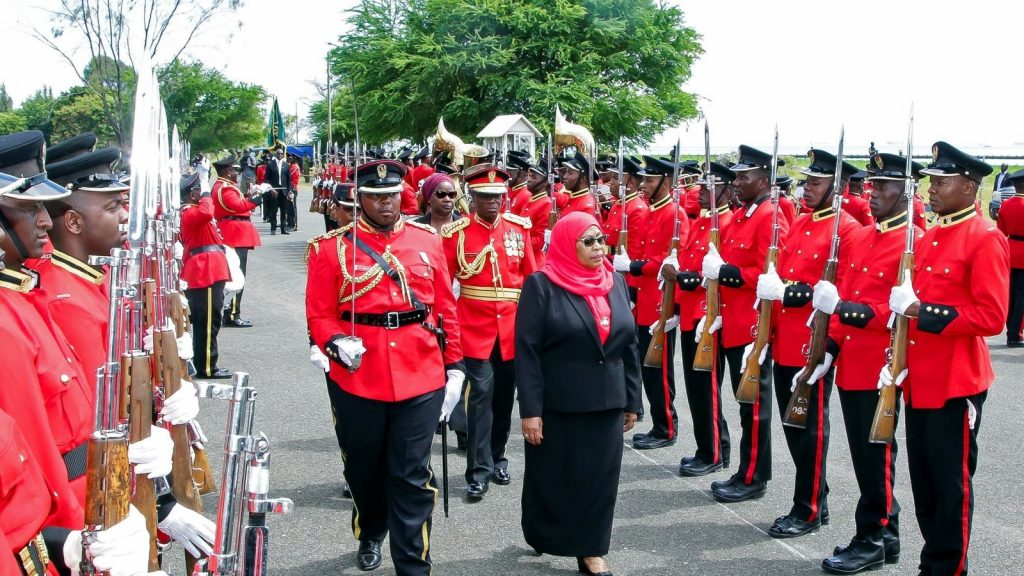 President Suluhu Hassan Reviews Guard of Honor - Photo Council on Foreign Affairs