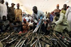 Rounding up Weapons - Photo Latest News from Nigeria and Around the World