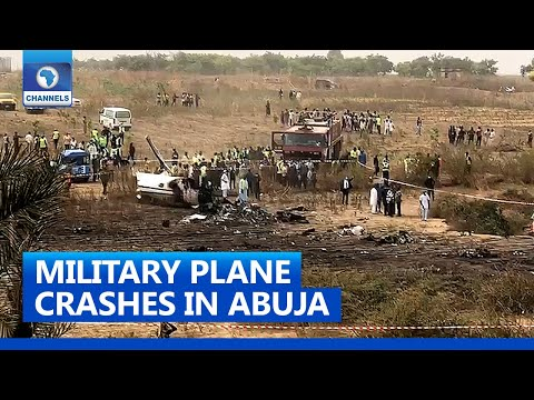 Site of a Former Air Force Plane Crash in Abuja - Photo Channels Television