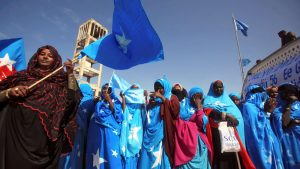 Somalis at an Election Rally - Photo African Media Agency