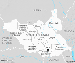South Sudan and Neighboring Nations - Source USAID:FFFP