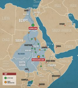 The Nile River Basin - Source The New Arab