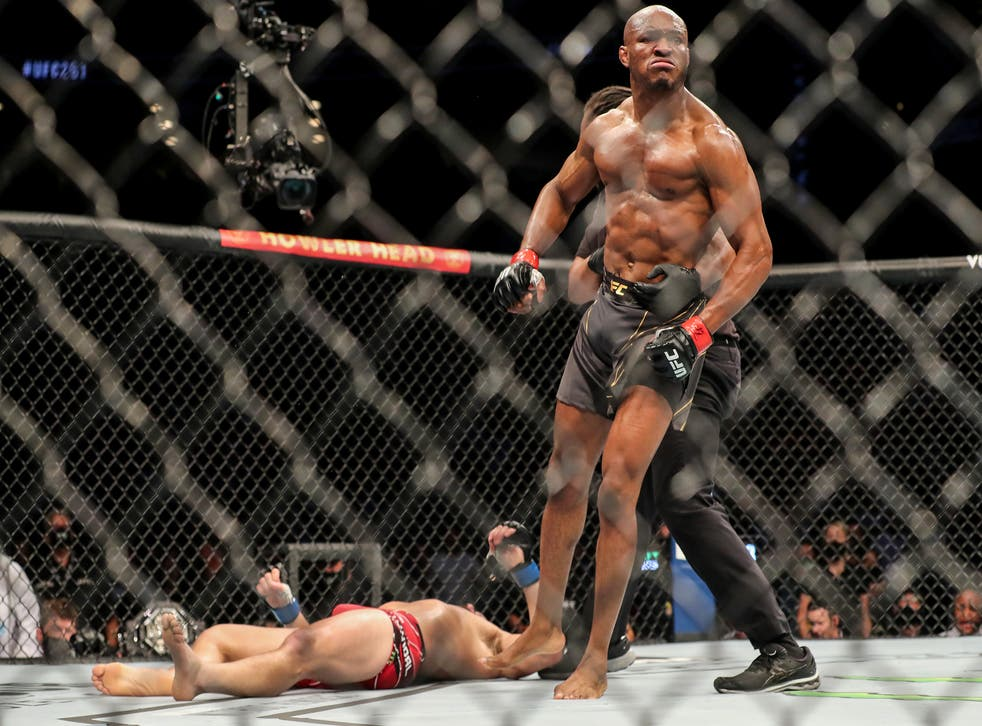 Usman Has Masvidal on the Canvas, Knocked Out at UFC 261 - Photo The Independent