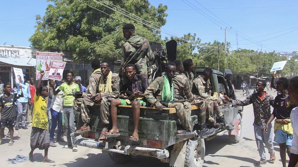 Violence Breaks Out Amongst Rival Factions in Mogadishu - Photo BBC