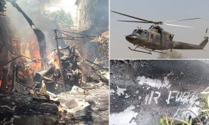 Zimbabwean Helicopter Crashes Killling Crew and One Child - Photo Montage Min News