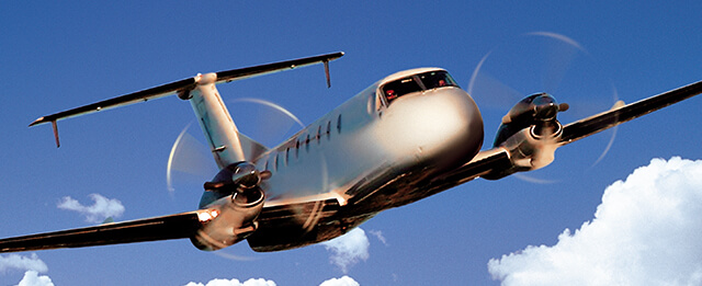A Beechcraft 1900 in Flight - Photo Information and Resource Center
