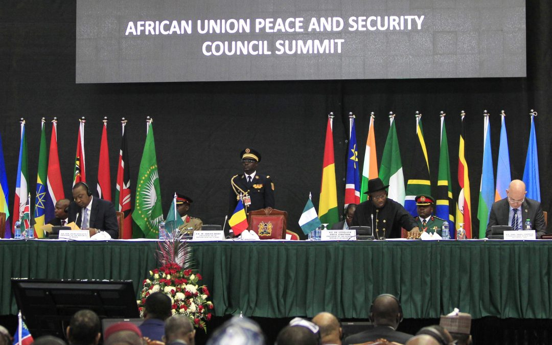 African leaders and delegates attend the Africa Union Peace and Security Council - Photo Noor Khamis, Reuters