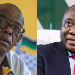 Ace Magashule (L) in Fight He's More Likely Than Not to Lose to Ramaphosa (R) - Photo Briefly